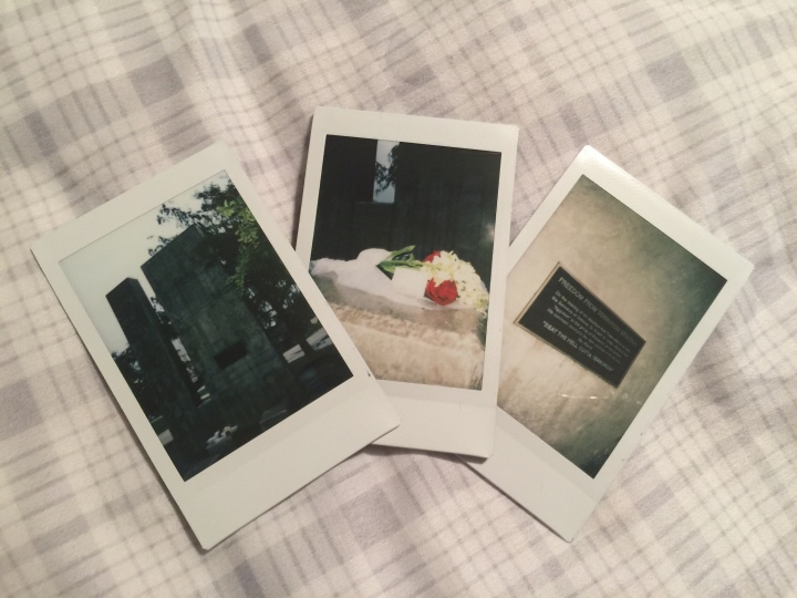 polaroids of the 9/11 memorial